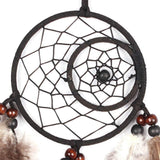 Premium Brown & Black Indian Handmade Dreamcatcher With Feathers, Beads & Intricate Designs - Soul Love Mind