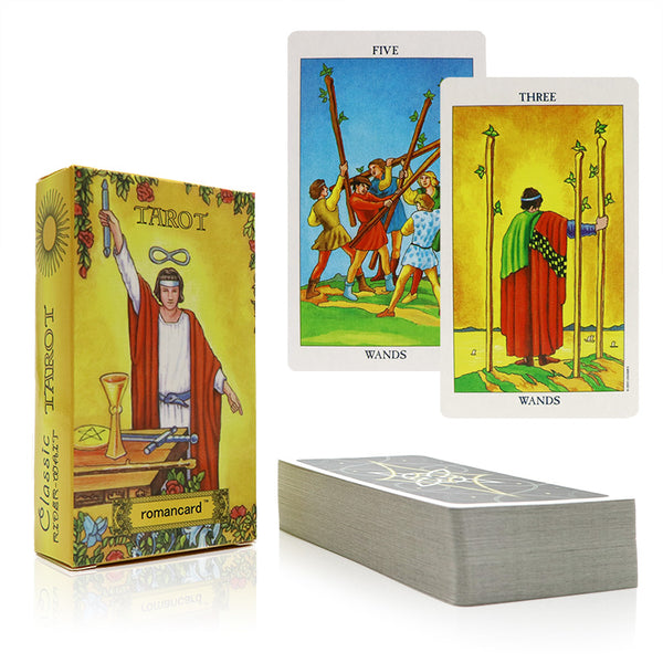 Traditional Style Tarot Cards - Patterned Back - Soul Love Mind