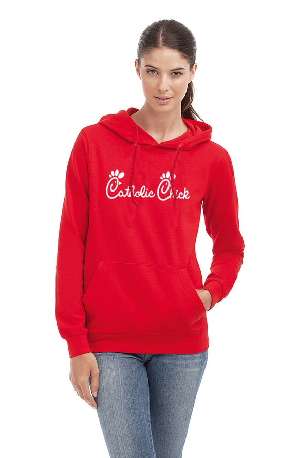 Catholic Chick Hooded Sweatshirt