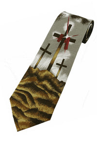 Three Crosses... Christ is Risen Necktie.