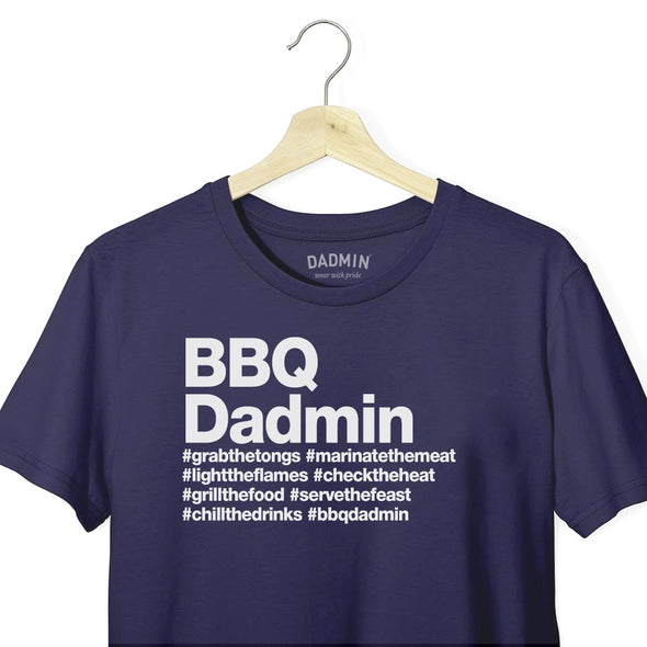 Personalised BBQ Dadmin T-Shirt
