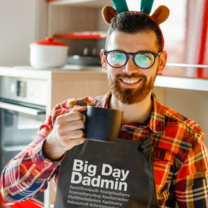 Big Day Dadmin Christmas Apron