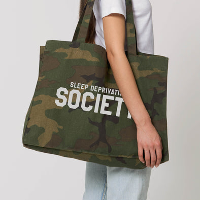 Camo Sleep Deprivation Society Shopper Bag