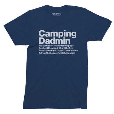 Personalised Camping Dadmin T-Shirt