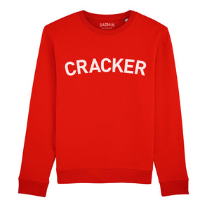 Cracker Unisex Red Sweatshirt