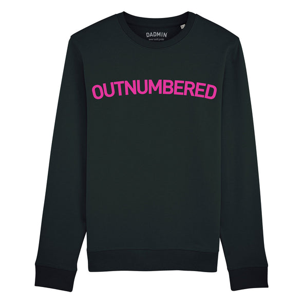 Outnumbered Unisex Black Sweatshirt