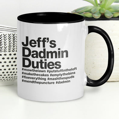 Personalised Dadmin Duties Mug