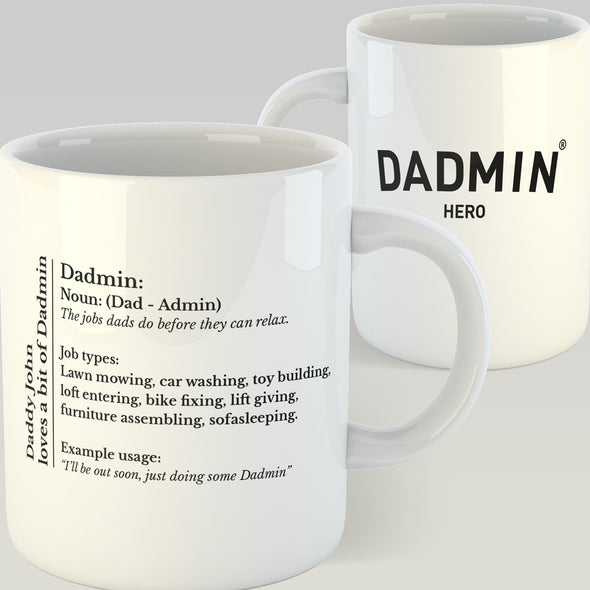 Personalised Dadmin Mug