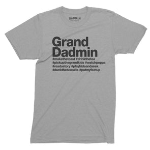 Personalised Grand Dadmin T-Shirt