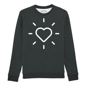 Heart Unisex Dark Heather Sweatshirt