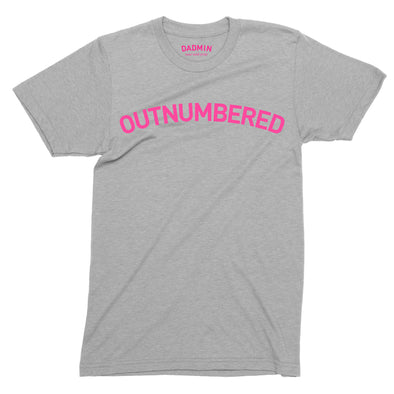 Outnumbered Bright Pink print - Unisex T-Shirt