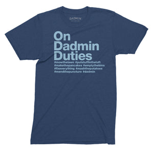 Personalised Dadmin Duties T-Shirt