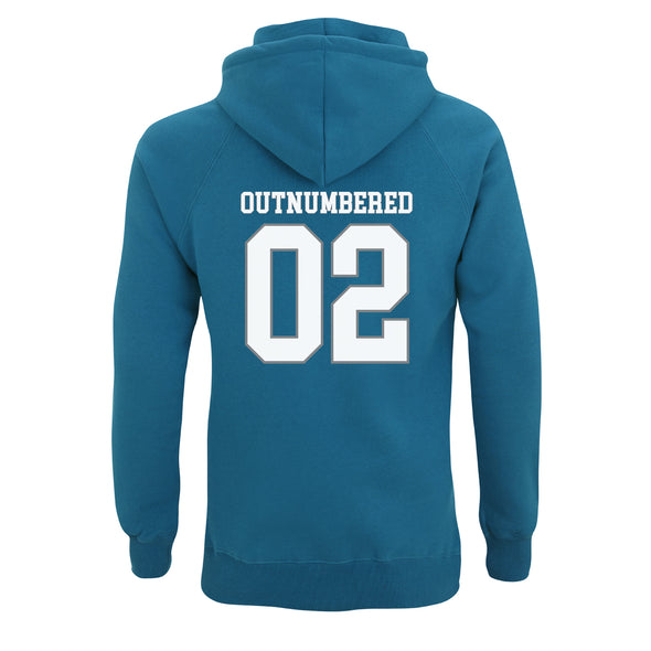 Outnumbered (By how many?) Back Print Hoodie