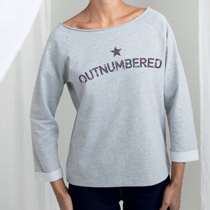 Outnumbered Womens Flashdance Floral Sweatshirt