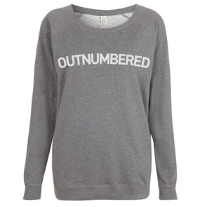 Outnumbered Womens Raglan Sweatshirt