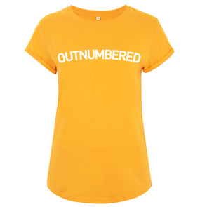 Outnumbered Women's Rolled Sleeve T-Shirt - Gold