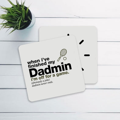 Tennis Dadmin Coaster