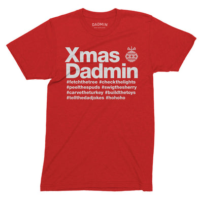 Personalised Xmas Dadmin T-Shirt