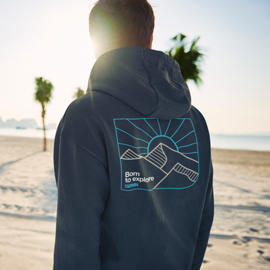 Born to explore DDMN - Backprint Zip Hoodie