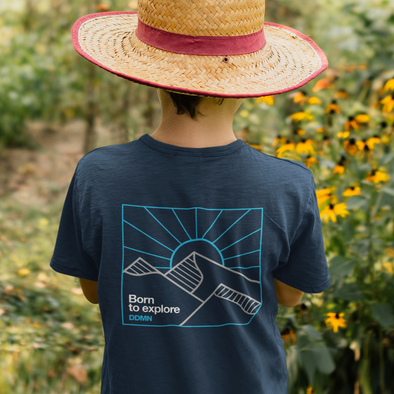 Born to Explore DDMN - Kids Backprint Tee