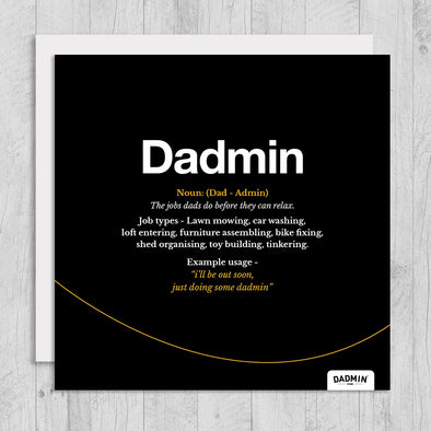 Dadmin - Greeting Card