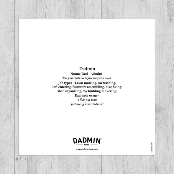 Dadmin Hero Greeting Card