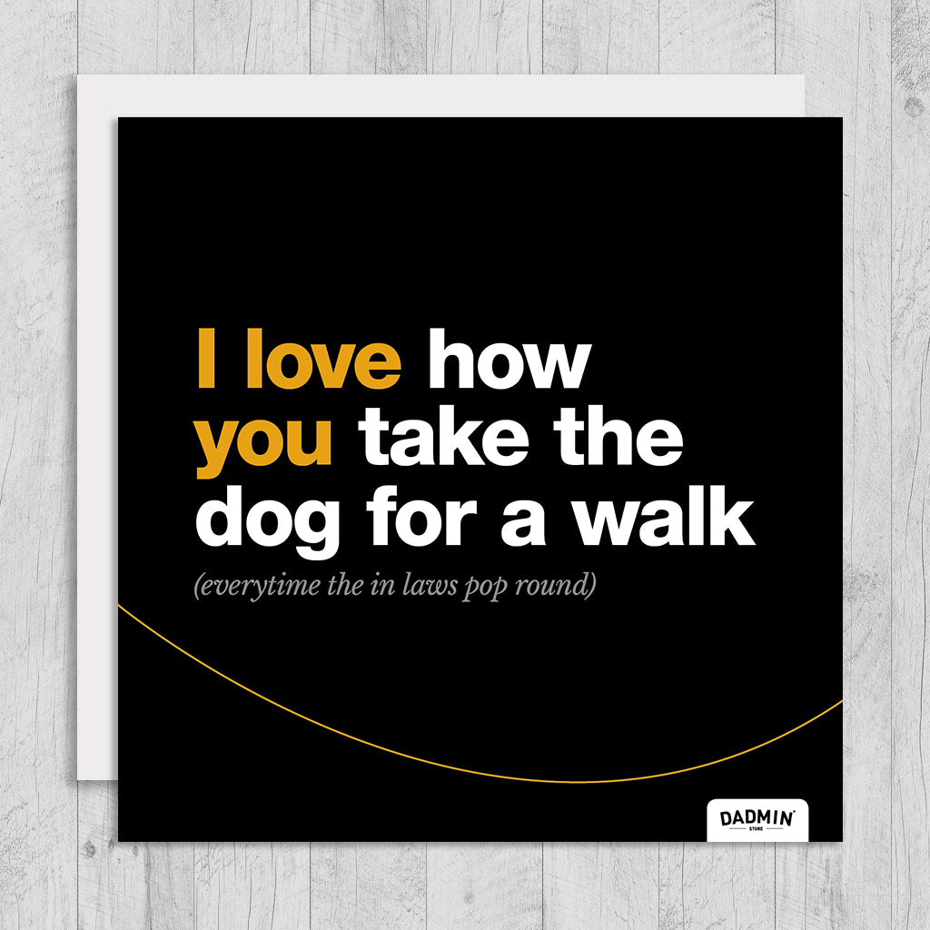 Dog for a walk greeting card dadmin store dog for a walk greeting card m4hsunfo
