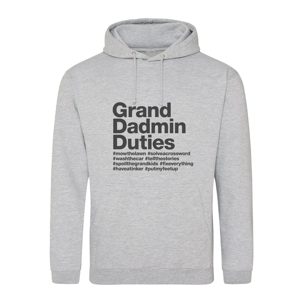 Personalised Grand Dadmin Base Hoodie