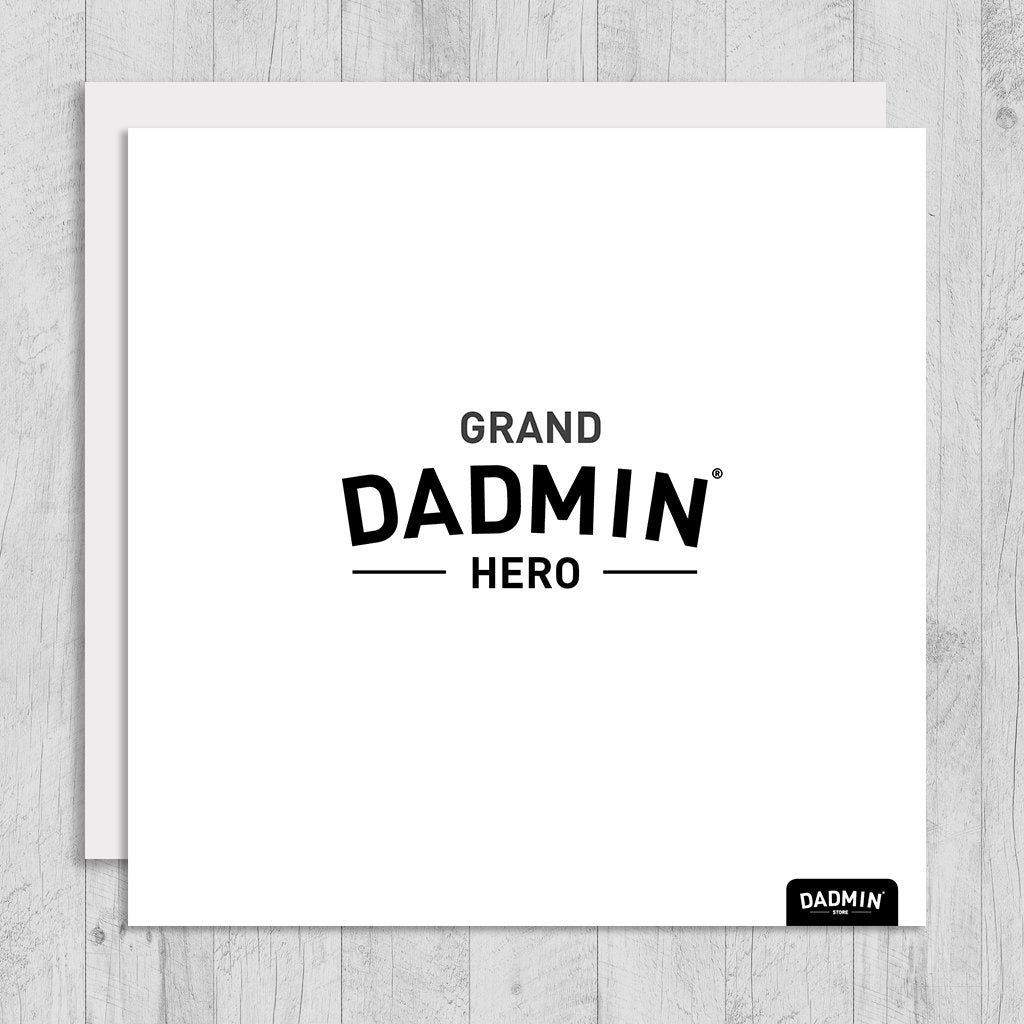 Grand dadmin hero greeting card dadmin store grand dadmin hero greeting card m4hsunfo