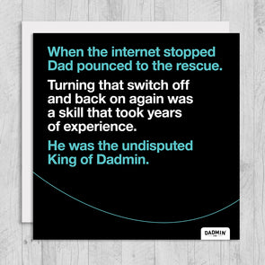 Internet Dadmin - Greeting Card