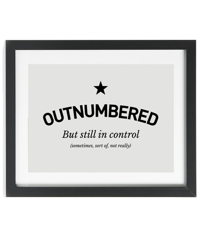 Outnumbered - Large A3 Framed Print