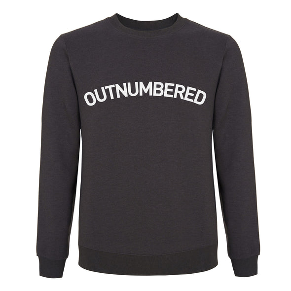 Outnumbered - Mens / Unisex Sweatshirt - Charcoal