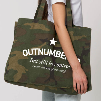 Camo  Outnumbered Tote / Shopper Bag