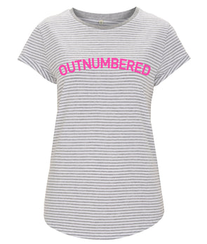 Outnumbered NEON Women's Rolled Sleeve T-Shirt