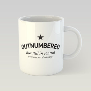 Ceramic Mug 10oz outnumbered