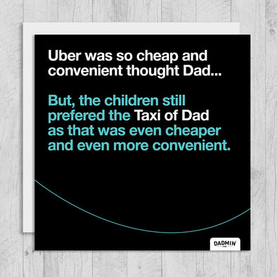 Taxi of Dad - Greeting Card
