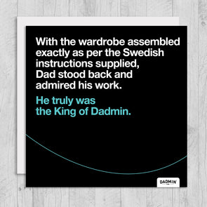 Wardrobe Dadmin - Greeting Card