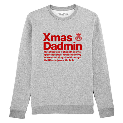 Personalised Xmas Dadmin Sweatshirt