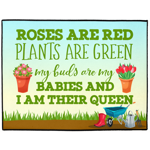 Roses Are Red, Plants Are Green - Indoor/Outdoor Floor Mats