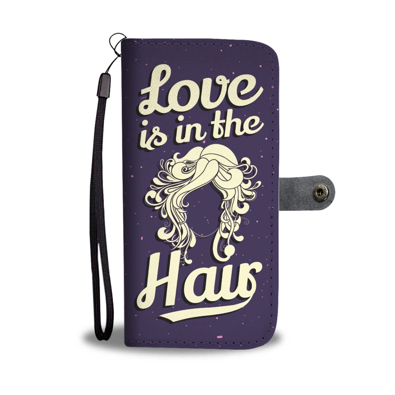CUTE PHONE CASE WALLET for HAIRDRESSERS/HAIRSTYLISTS