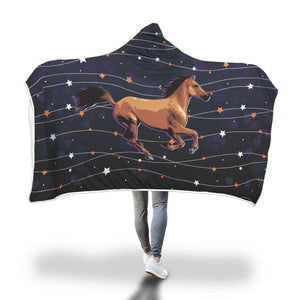 COZY HOODED BLANKET for HORSE LOVERS