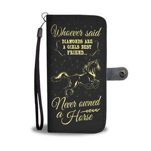 CUTE PHONE CASE WALLET for HORSE LOVERS