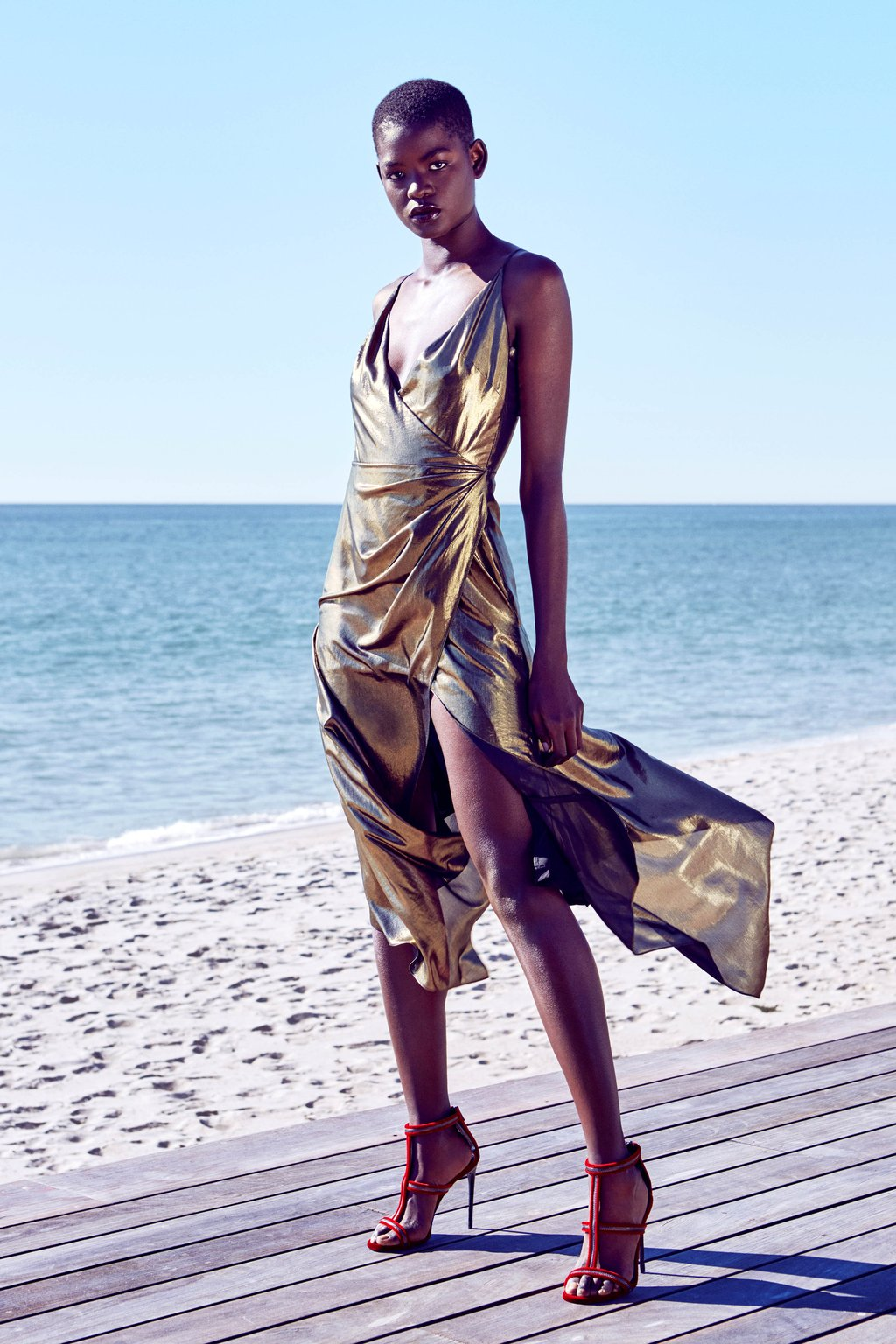 Alaina Bronze Lamé Dress