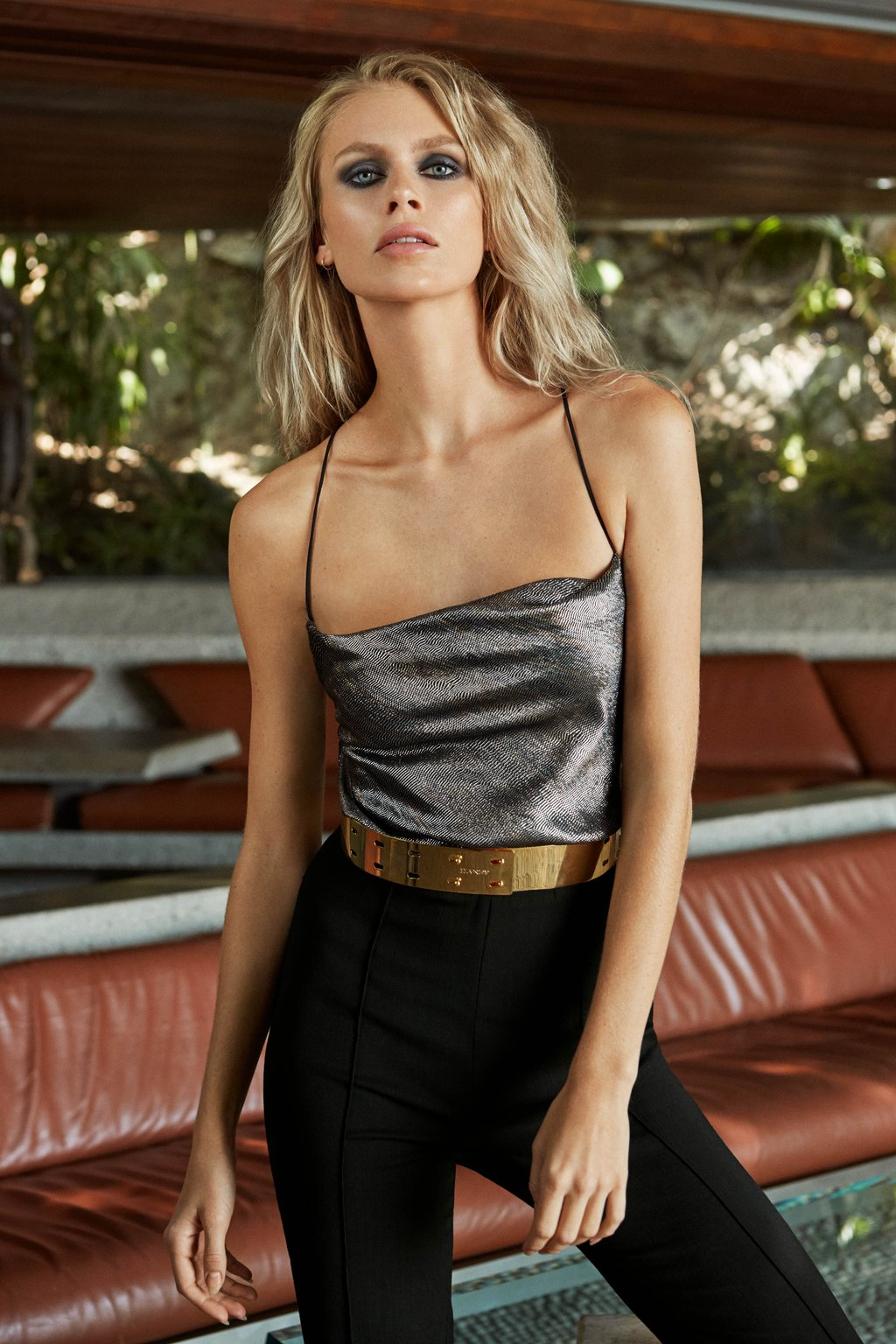 Mia Jumpsuit With Metallic Lamé Bodice