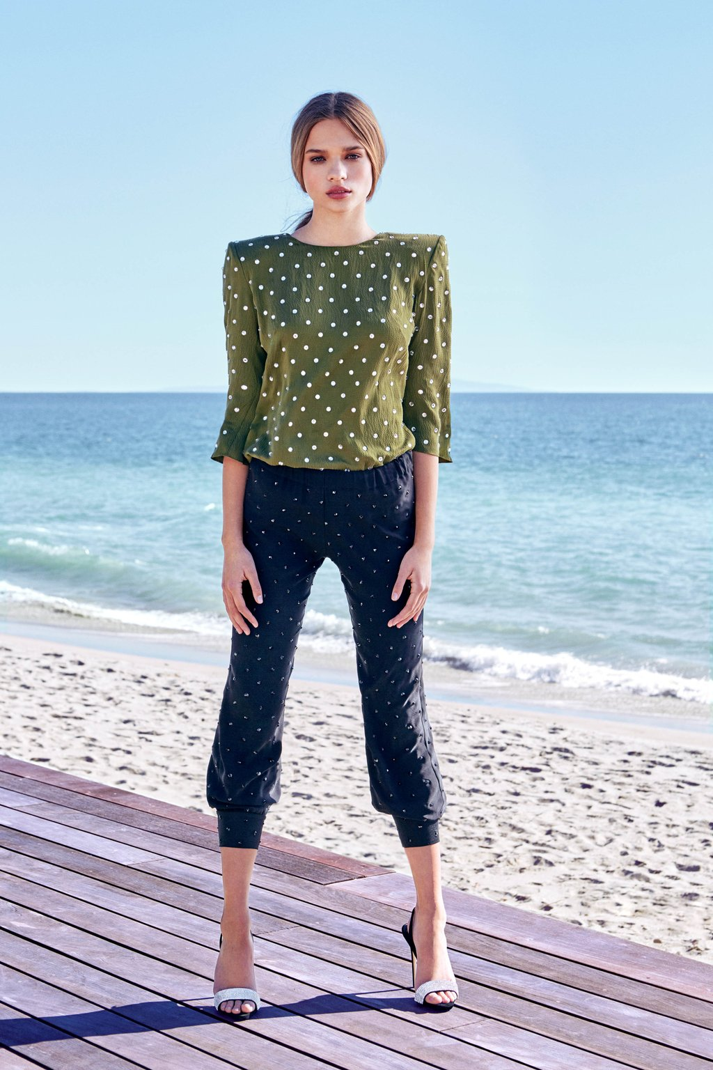 Carine Crystal-Embellished Blouse