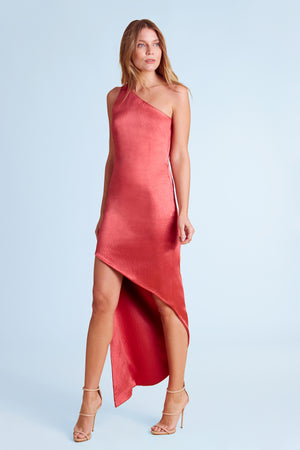 Paloma One-Shoulder Gown