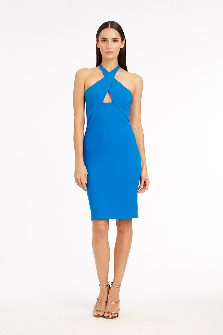 Milly Cross-Front Halter Dress