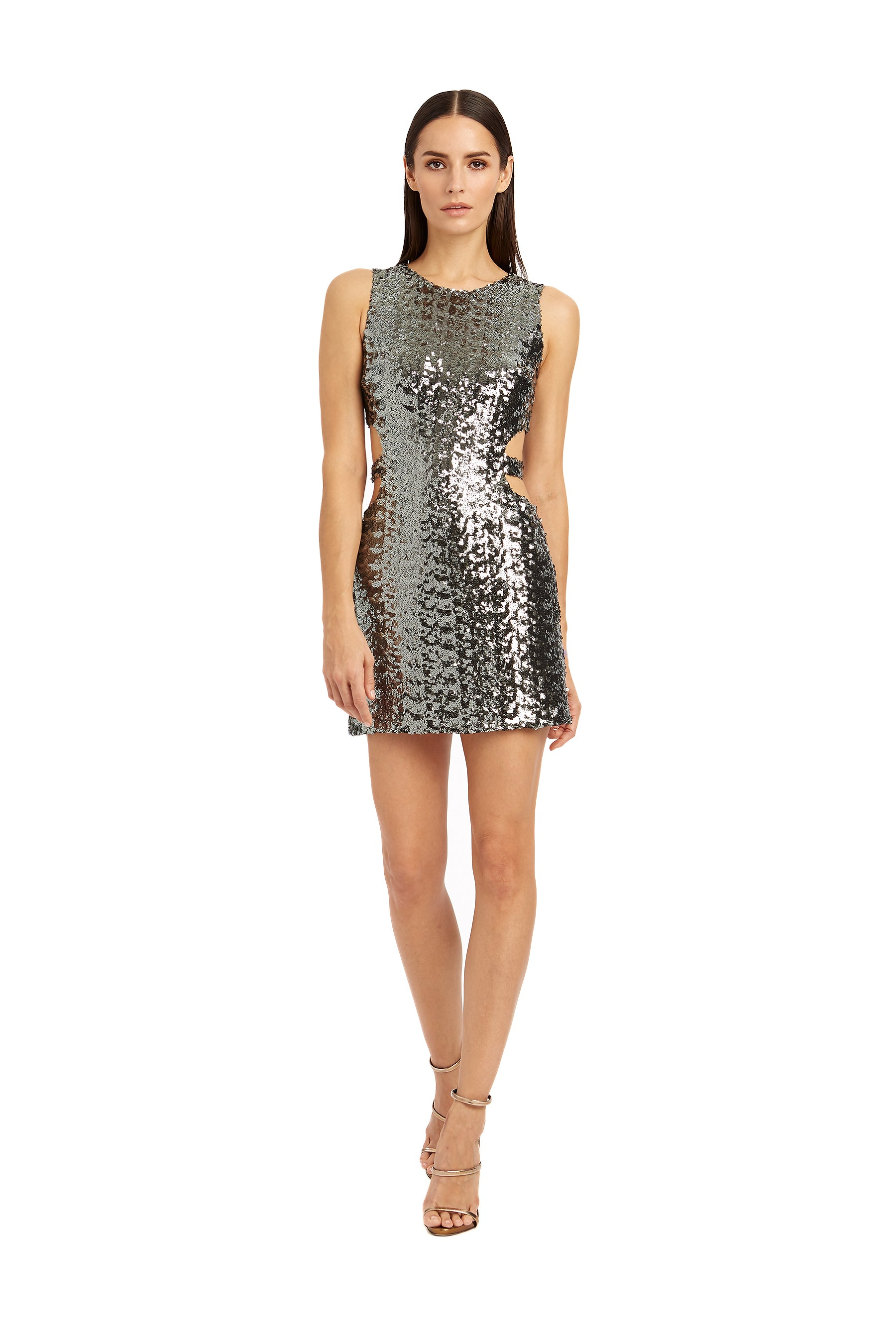 Twiggy sequins dress with side cut-outs