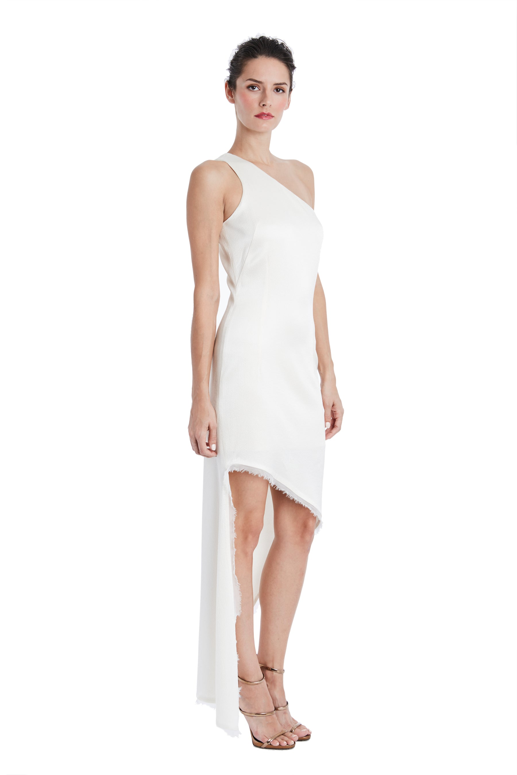 Blanca One Shoulder Silk Dress