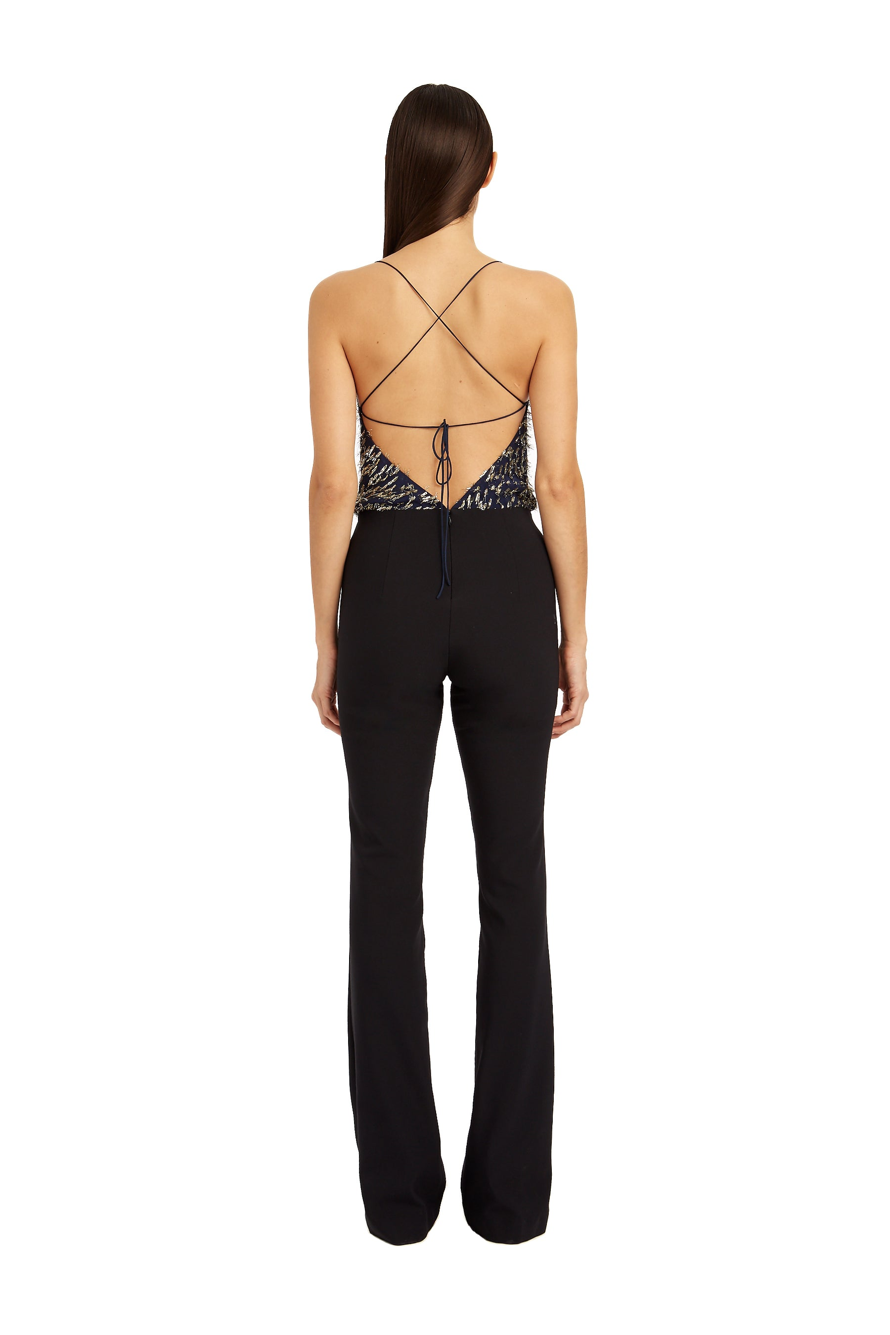 b355b2f312f Mia Jumpsuit With Chiffon Bodice – HANEY